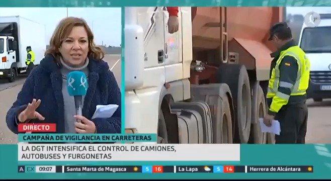 🚛🚍Horas de descanso, carga, peso, estado de los neumáticos... La DGT está realizando estos días controles especiales a camiones, furgonetas y autobuses para evitar que siga creciendo sus datos de siniestralidad.  #EXN https://t.co/rnm60pn8lw