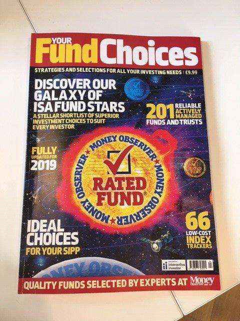 On sale now: Your Fund Choices 2019, our annual publication showcasing @MoneyObserver's rigorously selected shortlist of Rated #funds, #trusts and #ETFs Order your copy here:  https://t.co/YXkMwYVIhi
