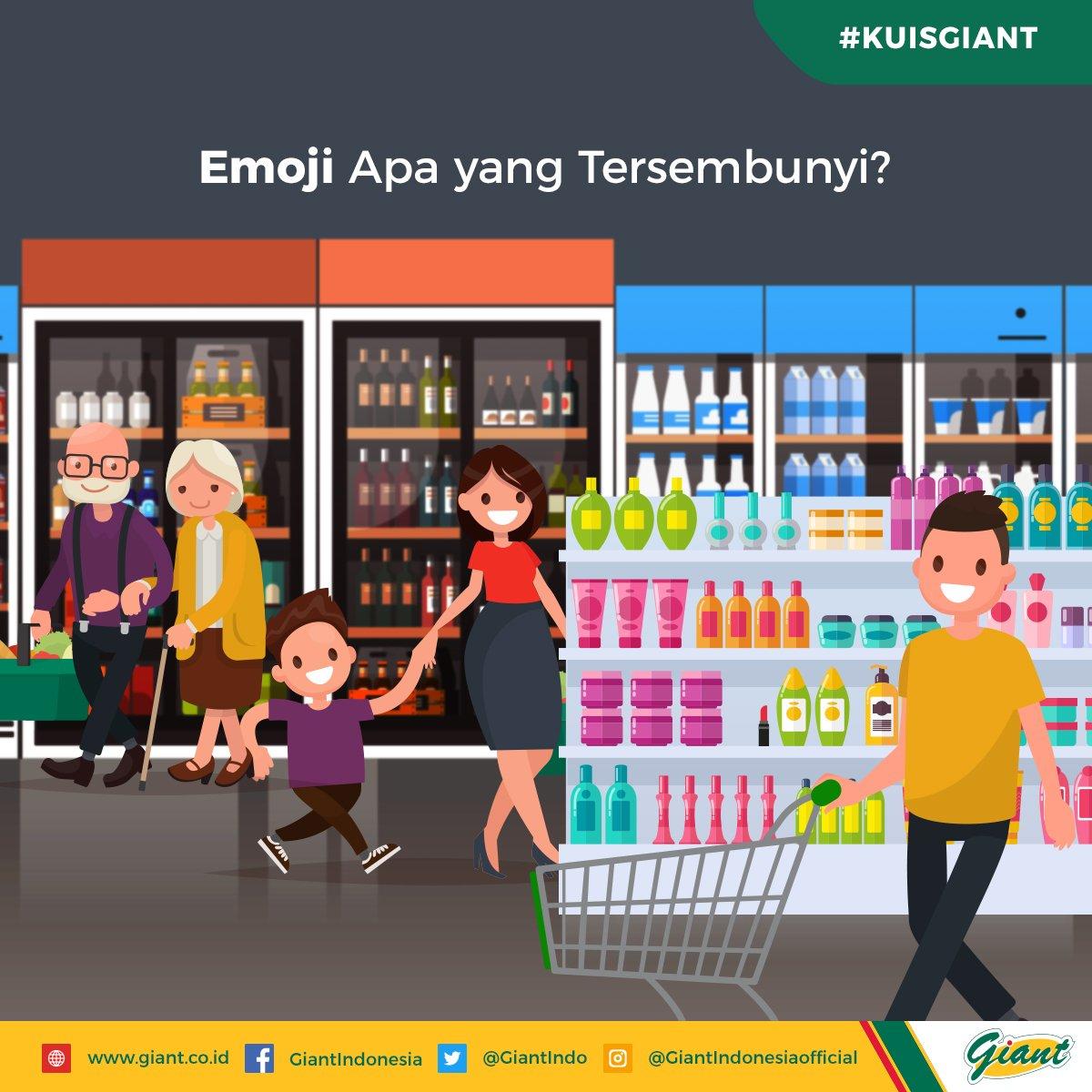 Waktunya belanja perlengkapan kosmetik di Giant! Bisakah Sahabat Giant menebak emoji mana yang tersembunyi di rak? Share jawabannya di kolom komentar, yuk!  #KuisGiant #GiantIndonesia #KeceSetiapHari