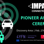 Image for the Tweet beginning: The #IMPACTConnectedCar Pioneer Award will