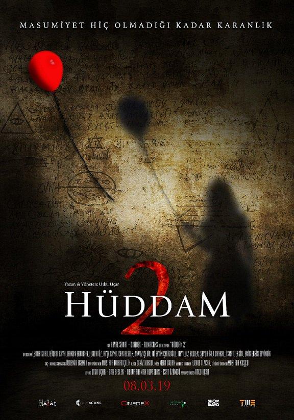 """8 Mart'ta vizyona girecek, Utku Uçar imzalı korku filmi """"Hüddam 2""""nin afişi yayınlandı."""