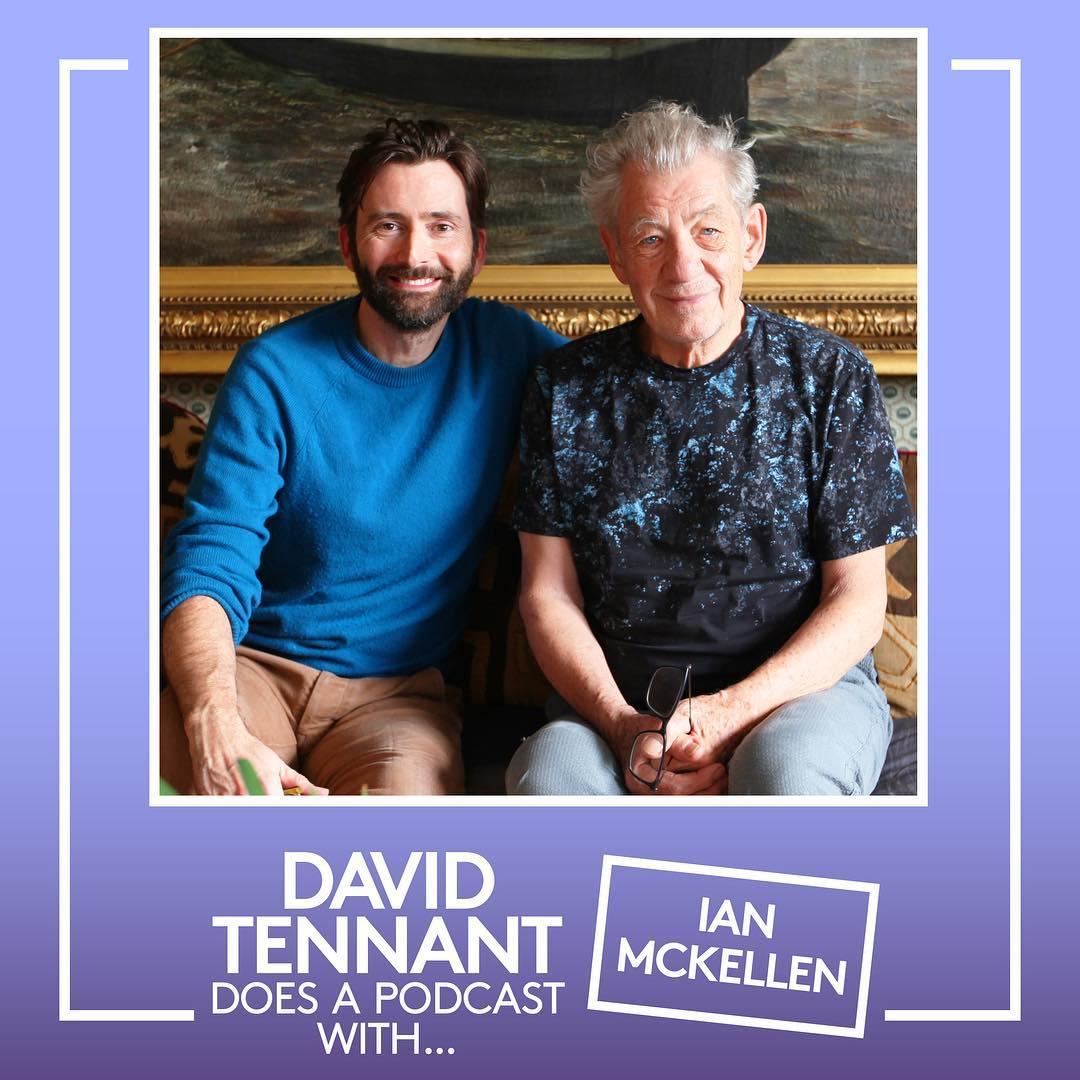 David Tennant with Sir Ian McKellen