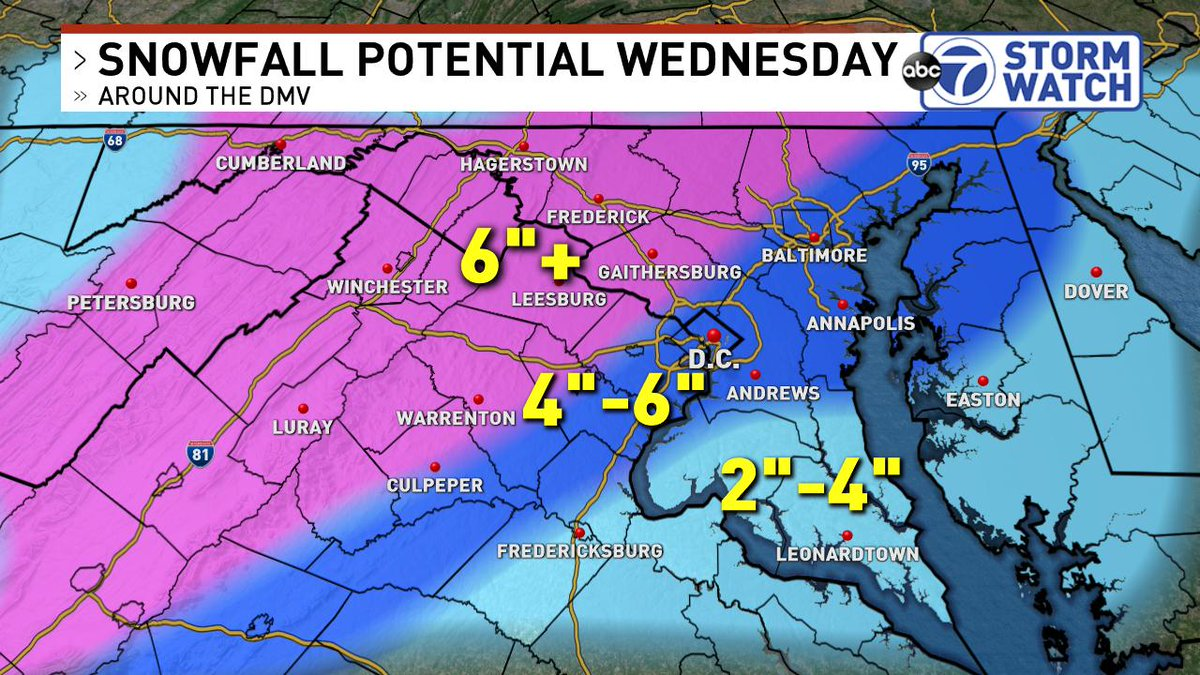 Get ready, snow lovers! Accumulating snow begins tomorrow morning (between 5-7am) and will snow until about 2PM before the mixing arrives.   Who's excited?! #SnowDay