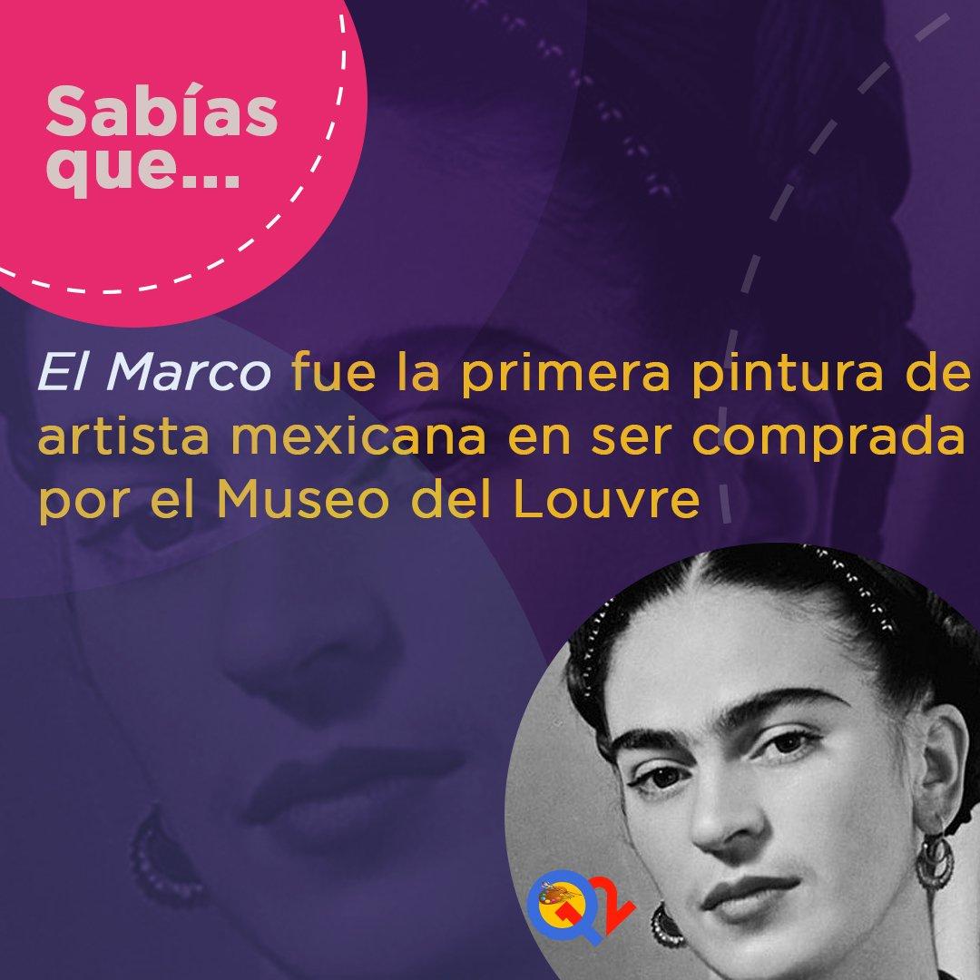 #SabíasQué...🎨🇲🇽   #FelizMartes #FridaKahlo #Arte #París #Louvre #Museo #Pintura #Artista #Q12Trivia #Q12 #app #mobile #mobileapp #Trivia #picoftheday #Tuesday #Mood #Cultura #Photography #Photo #Photographer #HappyTuesday #Concurso #Premio #Trivial #México