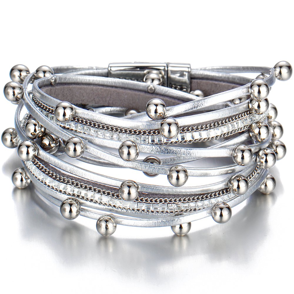 #model #cool Silver Color Multilayer Women's Bracelet
