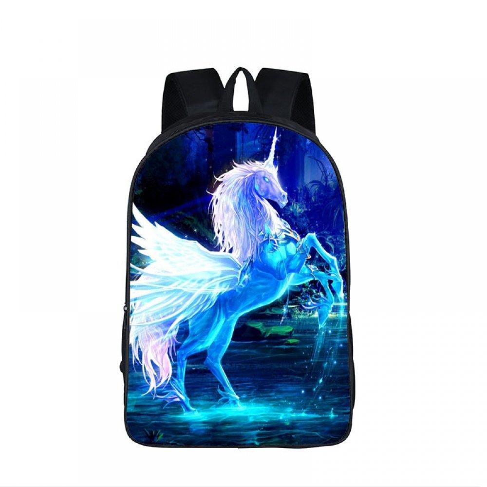 #happy #streetstyle #moda 3D Unicorn Printed Backpack