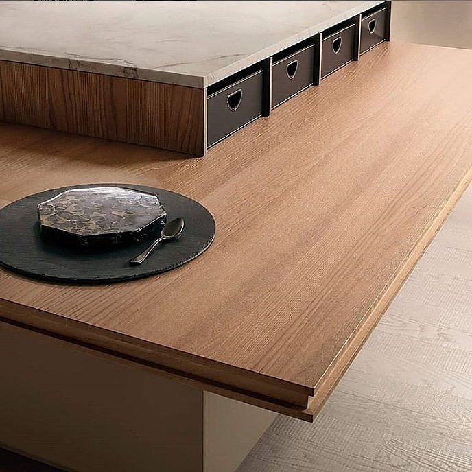 Steadytable table in caramel elm.  #soul #bavuso #design #designinspiration #home #homeinterior #interiordesign #inspiration #soul #table #elm #Ernestomeda #luxekitchen #architect #architecture #interiors #interiordesign #italDESIGN #luxe #luxeinteriors #madeinitaly