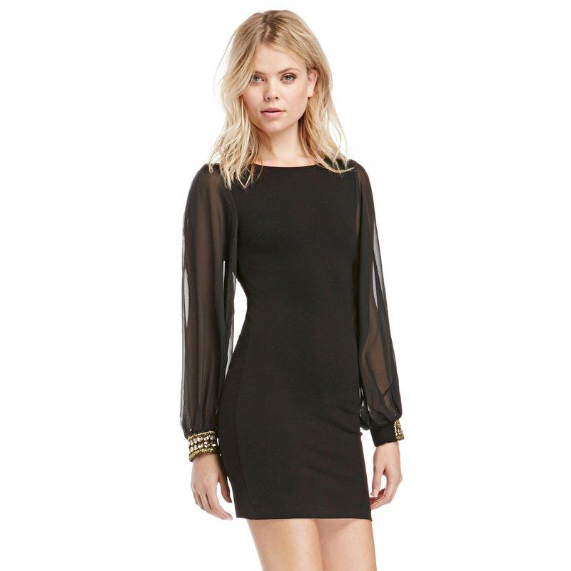 #amazing #happy Women's Luxury Mini Black Dress