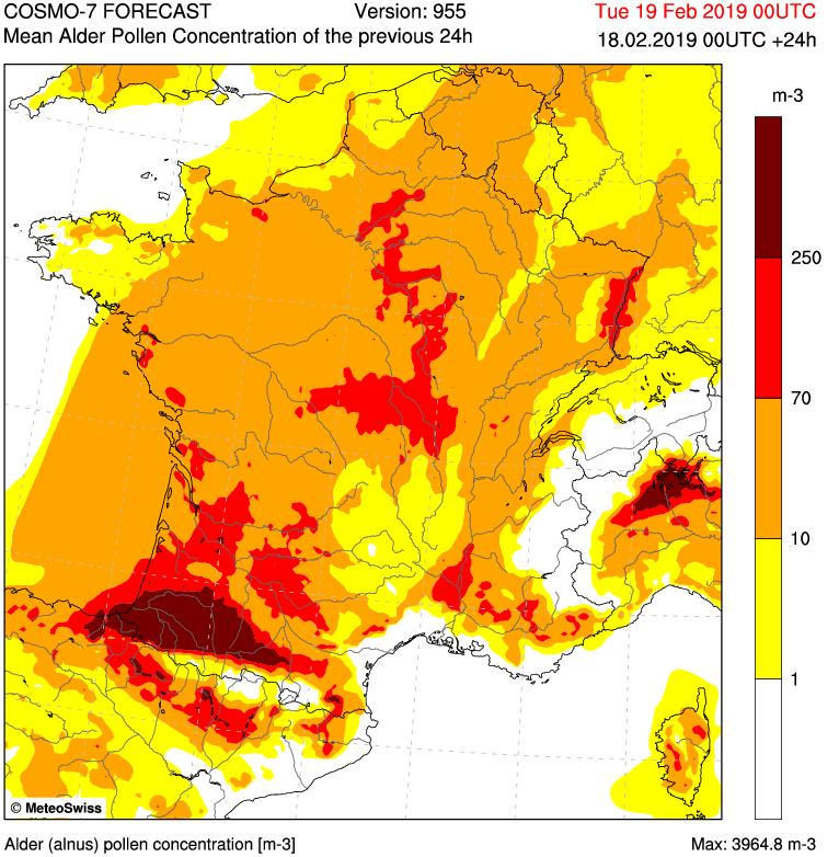 Prévision à 2 jours de la pollinisation des Aulnes  https   www.pollens.fr les-bulletins previsions aulne  …pic.twitter.com huVDFrBXDc 05ee299e11a