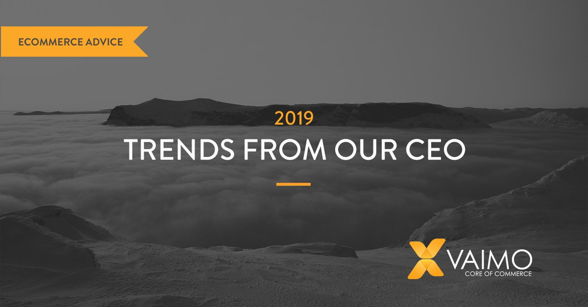 Trends from our CEO for 2019: 👩💻 The #Experience Era 🛍️ #Personalisation 📢 #Voice 🛒 #D2C 📱 #Mobile #Checkout 📈 #Social 🏭 Changing #B2B environment ⌛ #Time constraints  https://hubs.ly/H0ggbt10