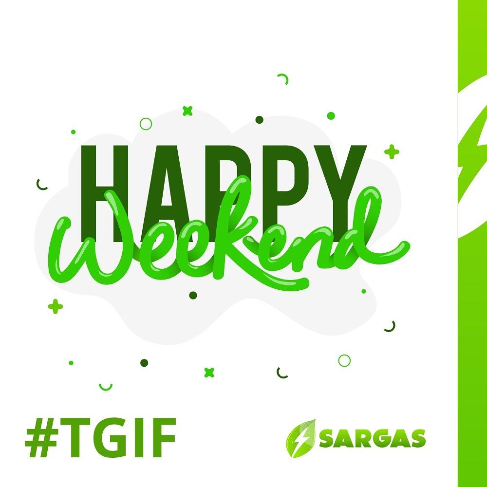 Thank God it's Friday, remember to stay healthy!! . . Happy weekend.. . . #friday #tgif #weekend #health #family #safety #nutrition #energy #sargas