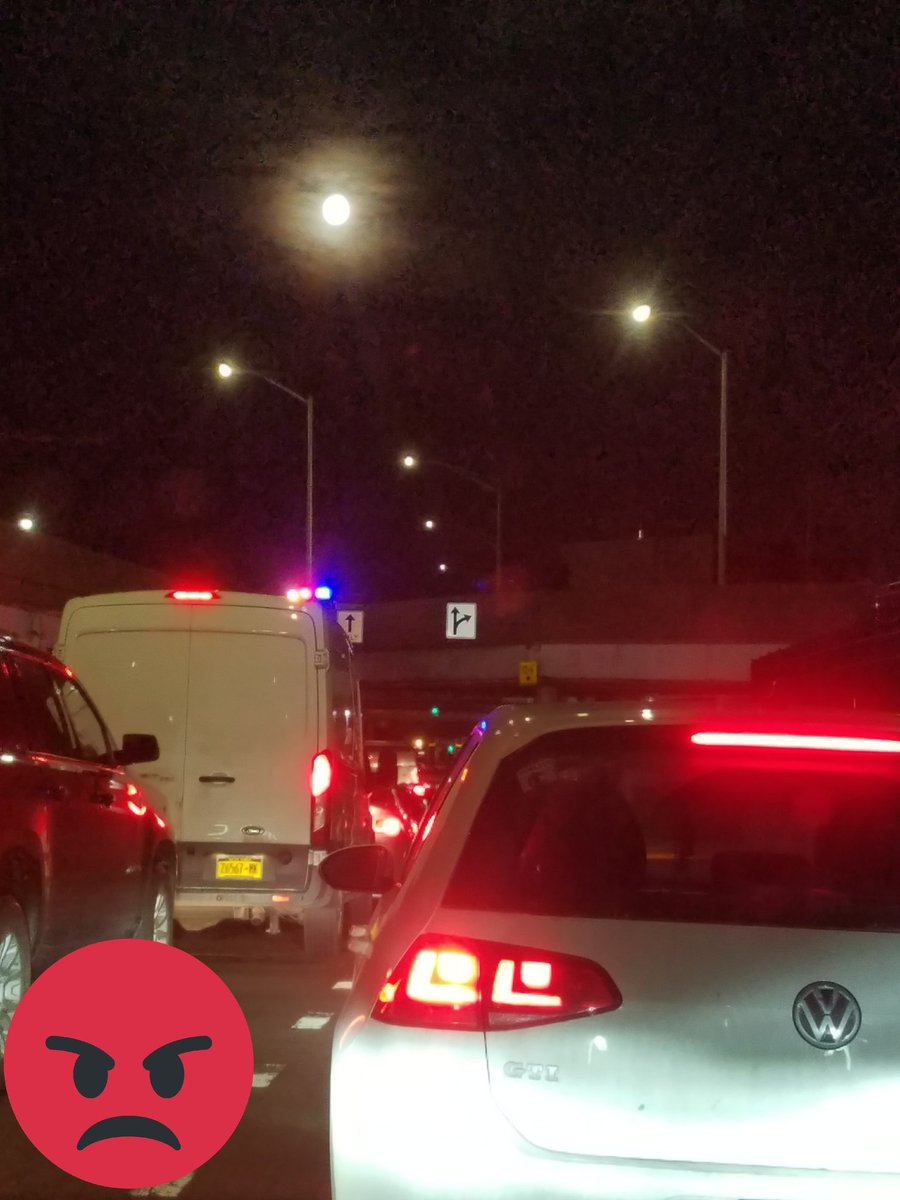 Certain things in #NYC never change.  Even at 5:30 am  under a #supermoon    The #TRAFFIC !!!!!