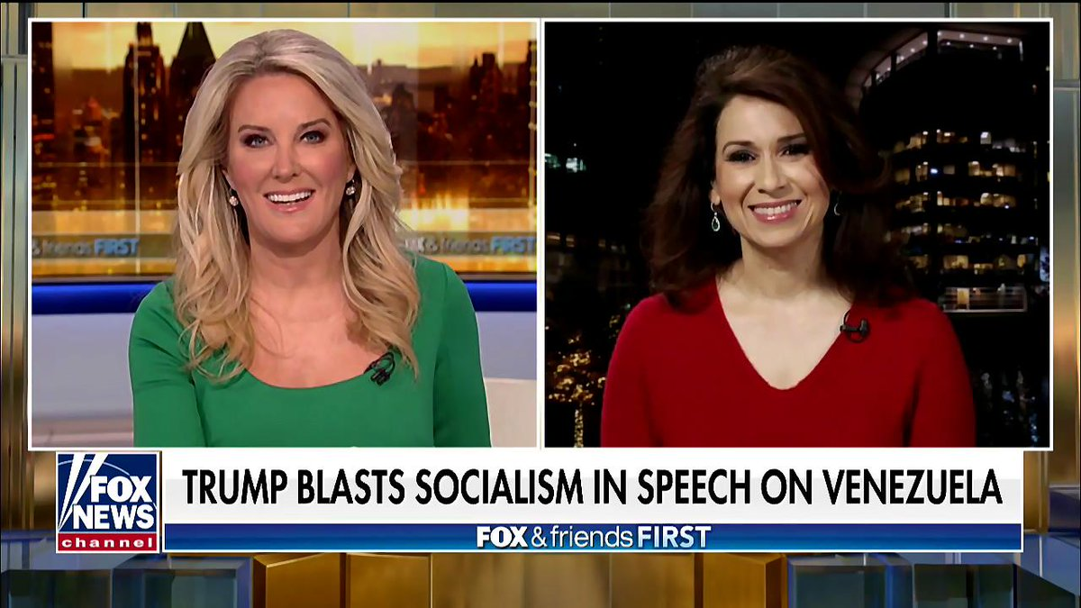 @POTUS blasts socialism in speech on Venezuela. Can the Trump administration improve life for everyday Venezuelans? @Debber66 weighs in on @FoxFriendsFirst at 4 am with @HeatherChilders >https://video.foxnews.com/v/6003798058001/?playlist_id=1484128321001#sp=show-clips …  #firstatfour