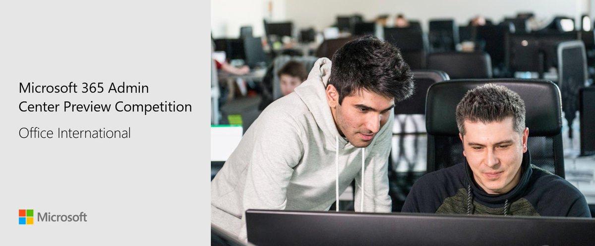 Atenção administradores do #Office365: criamos uma competição para saber se a visualização do Centro de administração do Microsoft 365 está pronta para o seu mercado. Como motivação, ofereceremos um voucher da Amazon de US$ 100 para 3 participantes.  https://t.co/I3gyHkUb1C