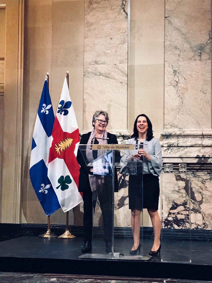 Très heureuse d'annoncer, en compagnie de la ministre @rouleauchantal, un investissement majeur de 118,6 M$ dans un nouveau programme phare qui vise à accélérer l'investissement durable dans la métropole 👏 (1/2) #polmtl #polqc
