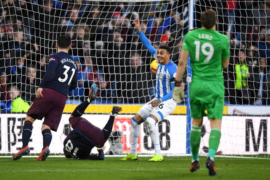Huddersfield Town's late goal in our 1-2 win has been awarded to Karlan Grant.  It is now officially not an own goal by Sead Kolašinac. #AFC #HUDARS