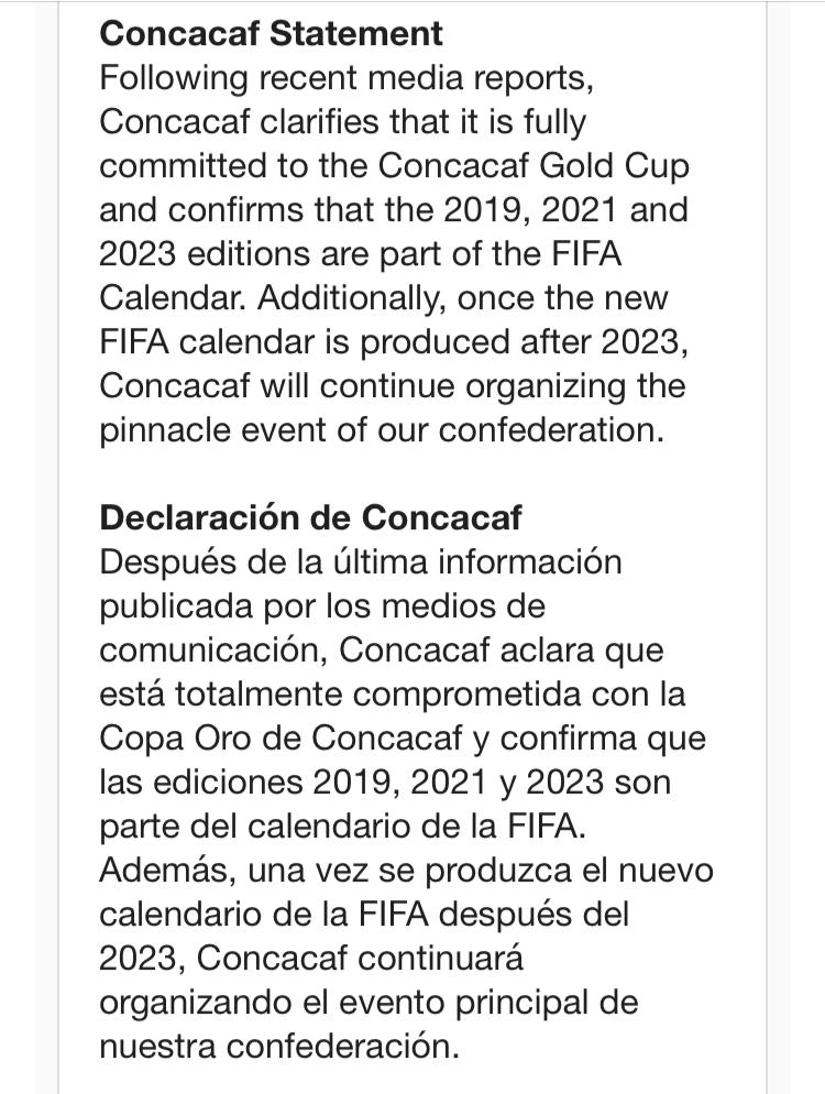 Confederation Cup Calendario.Jonathan Tannenwald On Twitter A Statement From Concacaf
