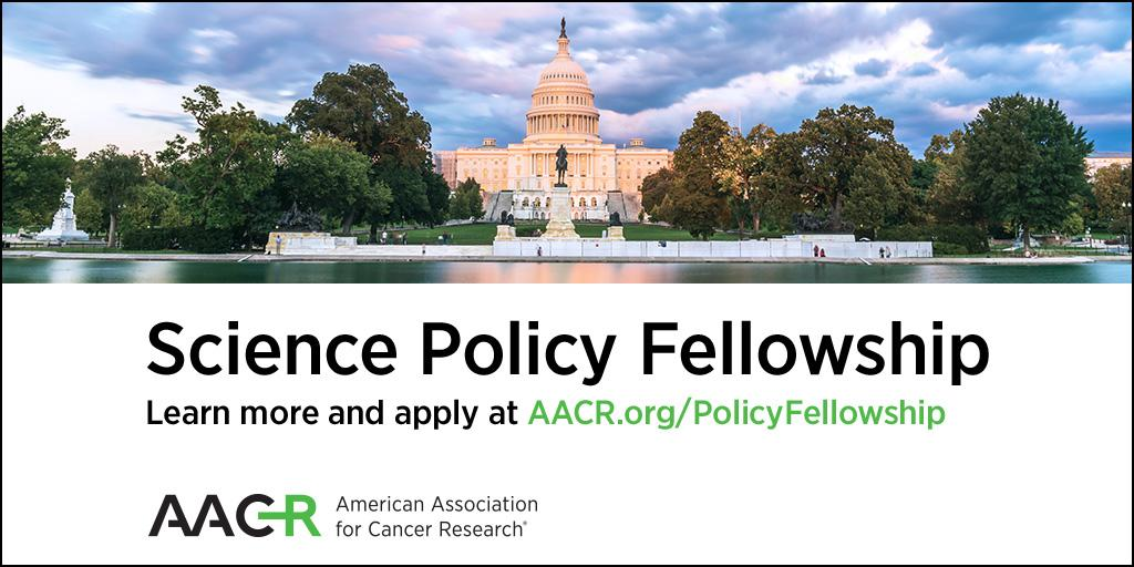 Early-career cancer researchers: Apply now for the AACR Science Policy Fellowship. Deadline is Feb. 20: https://t.co/aLABizjiiZ  #AACR_SciPolFellow