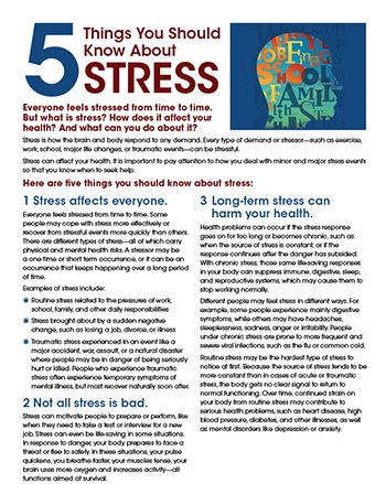 Good News About Mental Health In Our >> Mental Health Nimh On Twitter Dyk Routine Stress May