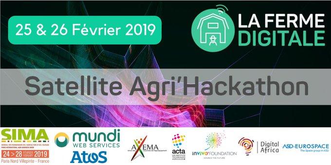 Nous soutenons le hackathon organisé par la @FermeDigitale basé sur les données satellites de...