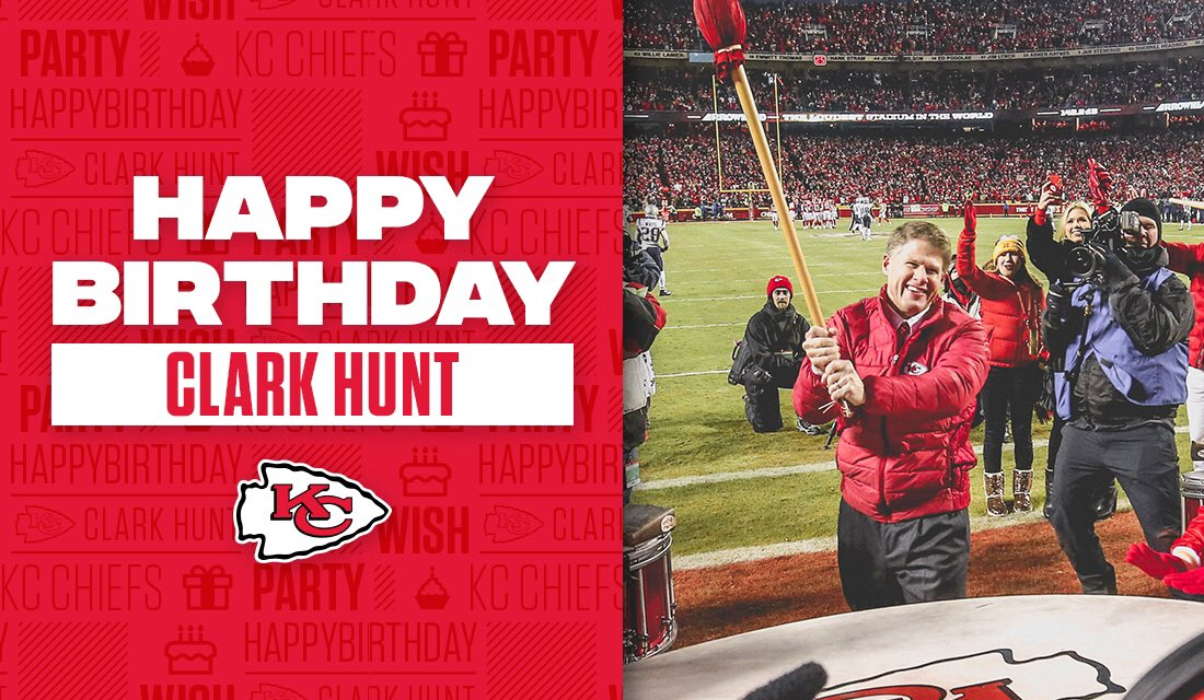 Join us in wishing a happy birthday to our Chairman and CEO, Clark Hunt! 🎁 #ChiefsKingdom