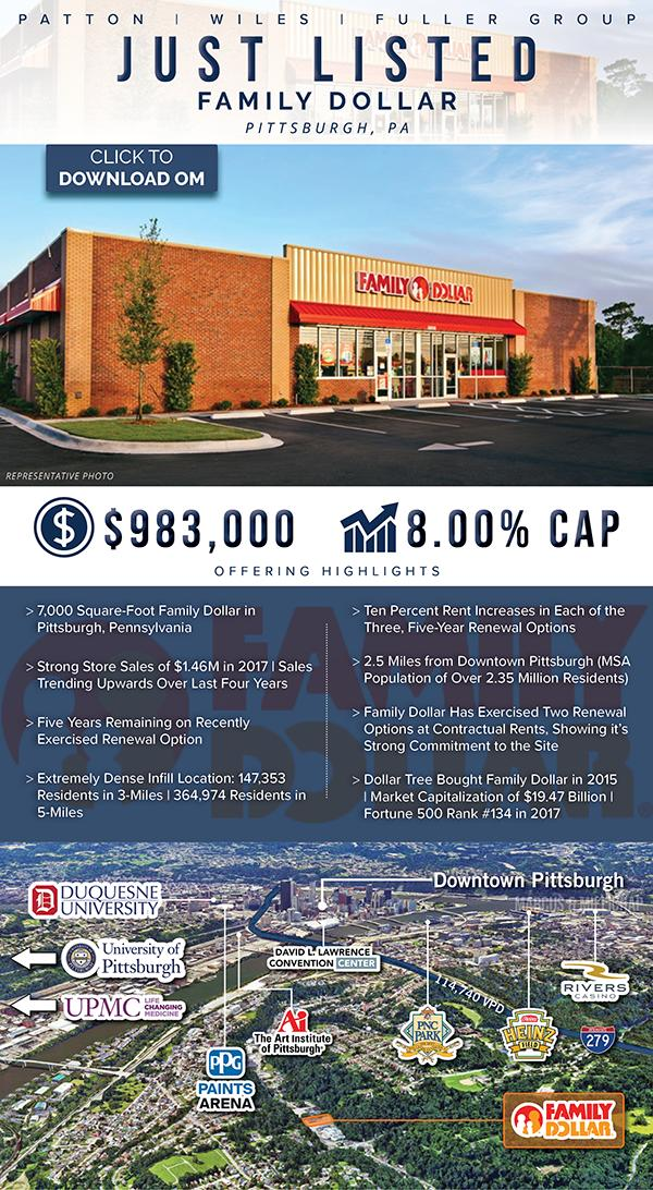 Just Listed: Family Dollar | Strong Store Sales | Pittsburgh, PA #PWFRetail #PWFListings  https:// conta.cc/2DVIkzo  &nbsp;  <br>http://pic.twitter.com/LBtf4Spghu