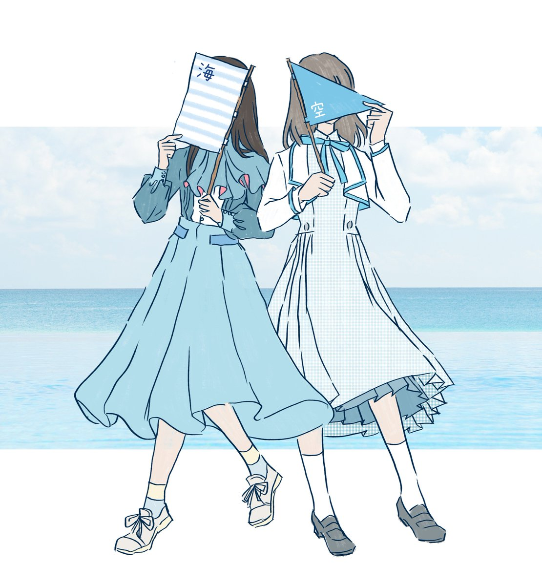 STU48  ×  日向坂46  I hope they cross path some time... . . . .. . imagine how cute their sea foam &amp; sky blue uniforms would look together.  <br>http://pic.twitter.com/bWdO4Fw1wS