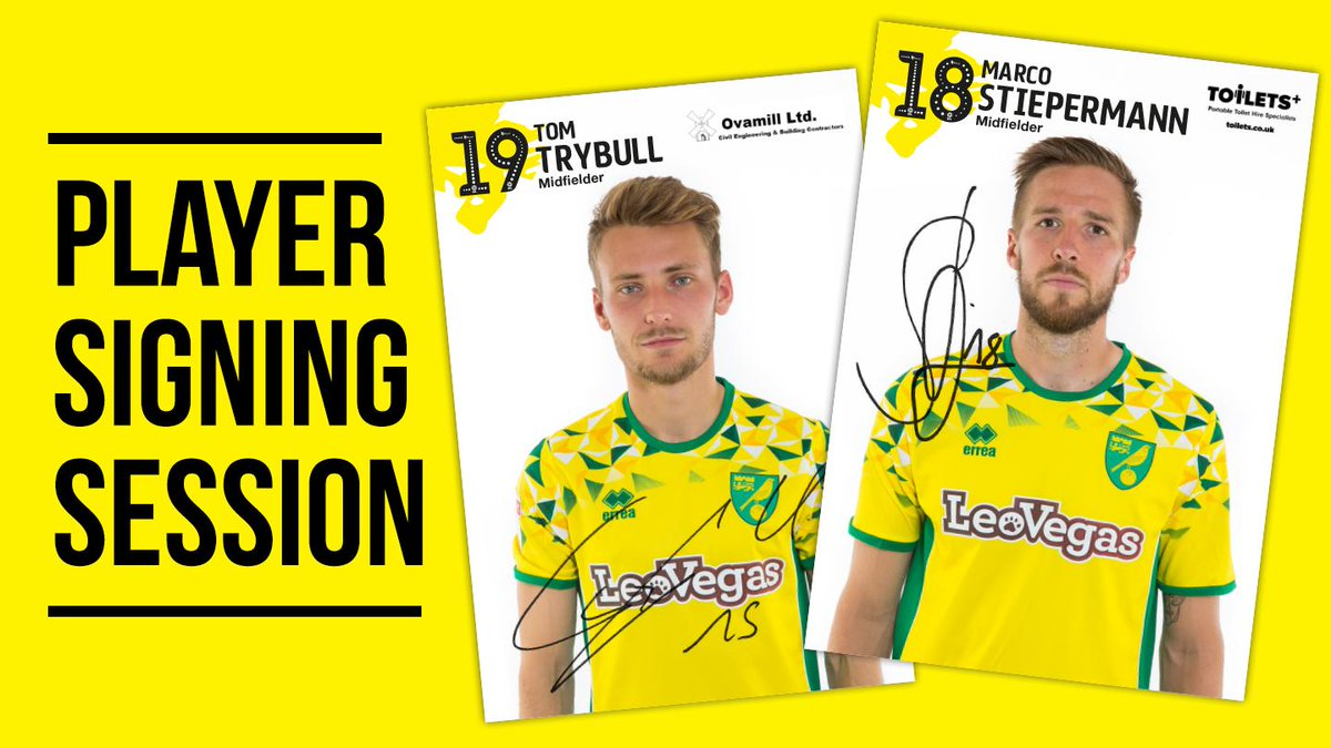 Calling all Canary fans! Tom Trybull and Marco Stiepermann will be meeting fans at our Chapelfield store on Thursday. #ncfc   Find out more 👉  https://t.co/zjk8YgmndW