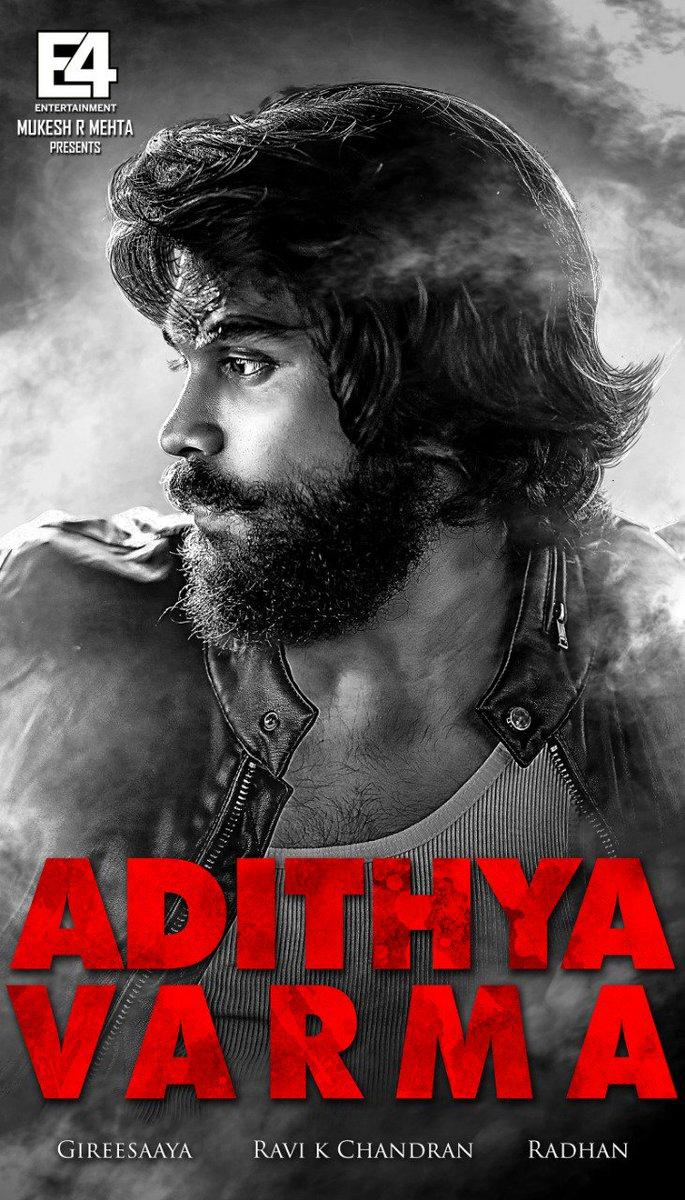 Title change : #AdithyaVarma  starring #DhruvVikram & @BanitaSanthu.. Directed by #Gireesaaya  #Arjunreddy   @dop007 @E4Emovies @proyuvraaj