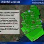 Image for the Tweet beginning: Rain Chances Today Increase.   #houwx