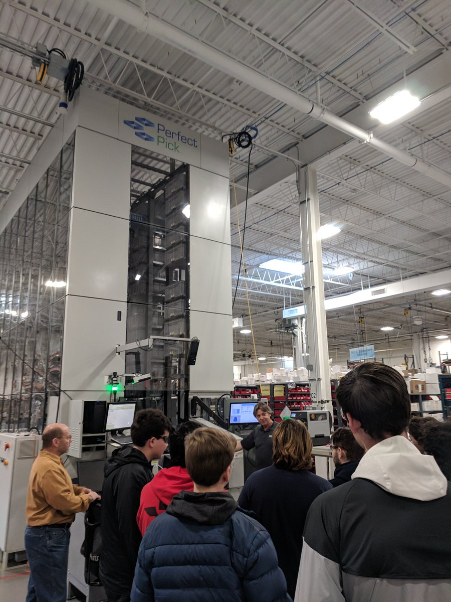 @BCITEETAcademy students visit @OPEXcorporation in Moorestown, NJ to explore future careers using skills learned here @BCITMedfordCTE .  Seen here are demos for the Perfect Pick and mail sorting machines. #BCITPride #CTEMonth #Robotics
