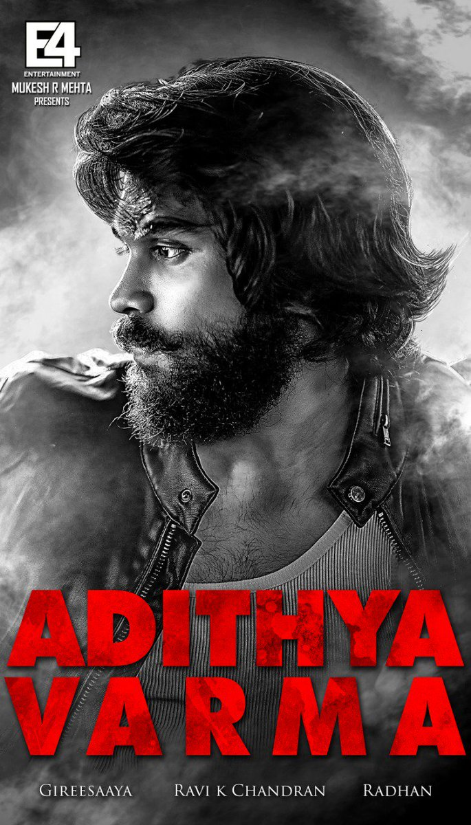 #Varmaa is now #AdithyaVarma  Starring #DhruvVikram & @BanitaSanthu @PriyaAnand Directed by #Gireesaaya  @dop007 @E4Emovies @e4echennai @proyuvraaj