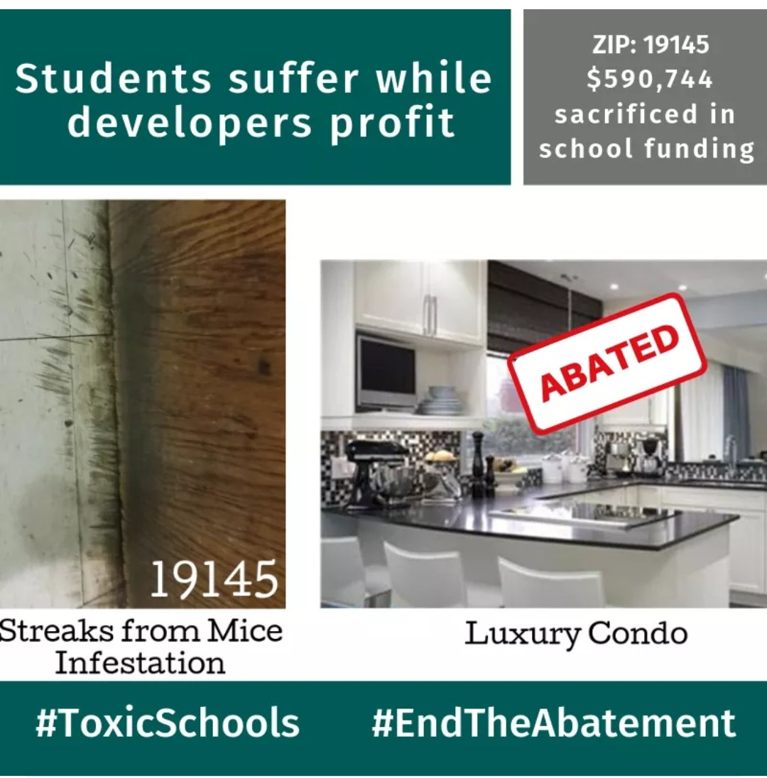 What our students deal with as developers grow rich. Check out Toxic Schools: A Tale of Two Cities. https://toxicschools215.wordpress.com/ #PhlEd #EndTheAbatement @HelenGymAtLarge @melissa4philly