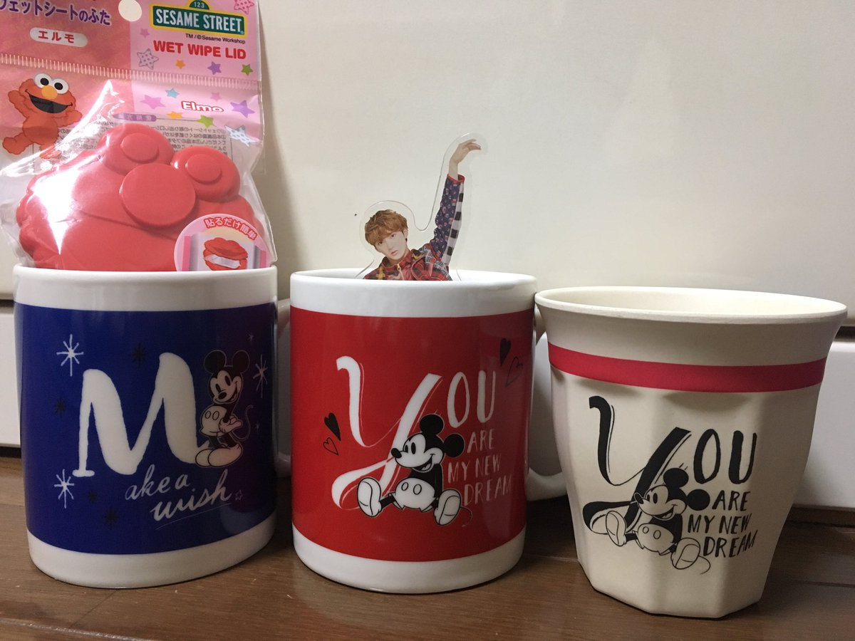 test ツイッターメディア - ユーキちゃんカラーでYのマグカップと、カイカイカラーのまきのMのマグカップゲット エルモも見つけた ユーキちゃんグッズ増えた←違う #ダイソー #ダイソーディズニー #超特急 #ユーキ #カイ https://t.co/PhLk5SrTx1