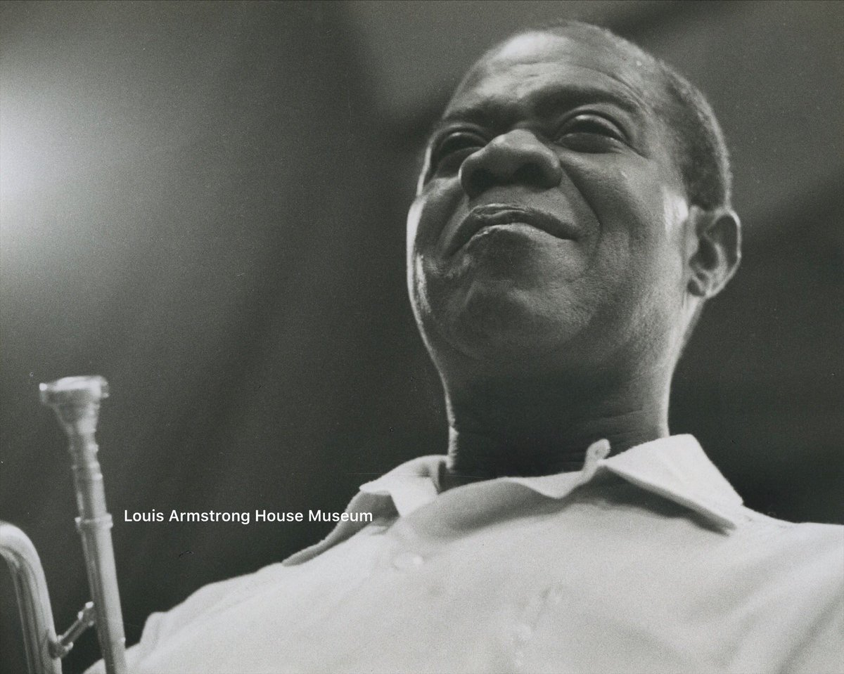 """""""My strength comes from Louis Armstrong.""""—Ralph Ellison, interview with Robert G. O'Meally, 1976. So does ours. #LouisArmstrong #RalphEllison"""