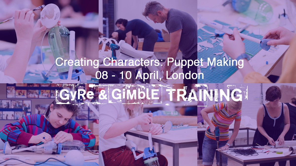 Join our friends @GyrAndGmbl for a *puppet making course*!!!