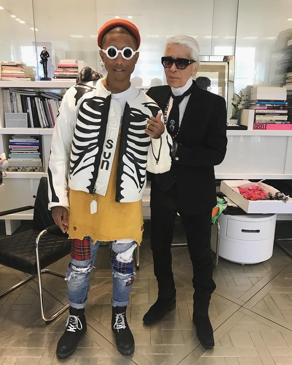 RIP legendary Chanel designer Karl Lagerfeld. One of the first to invite hip-hop to high fashion.