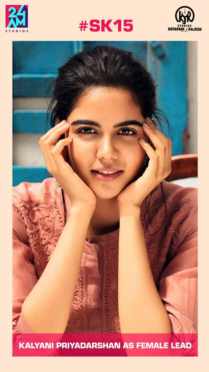 Excited to Introduce @kalyanipriyan as the lead in #SK15  தமிழ் cinema-க்கு அன்புடன் வரவேற்கிறோம்!! ✌