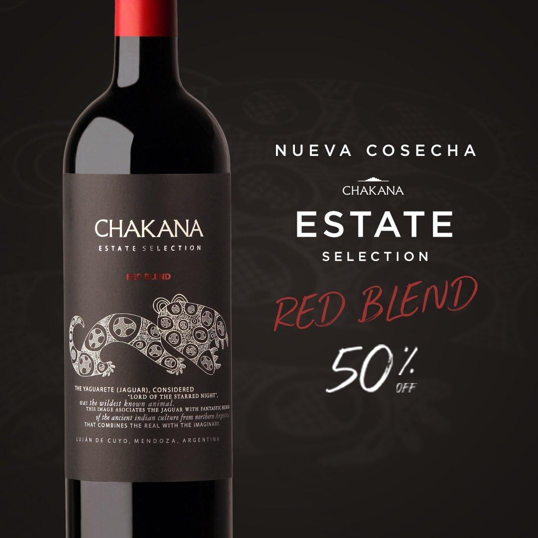 #NuevaCosecha 💪🏻 Ya podés disfrutar la añada 2017 de nuestro Estate Selection Red Blend. 🍷  Hasta el jueves llevalo con un 50%OFF ➡️ http://bit.ly/RedBlend2017