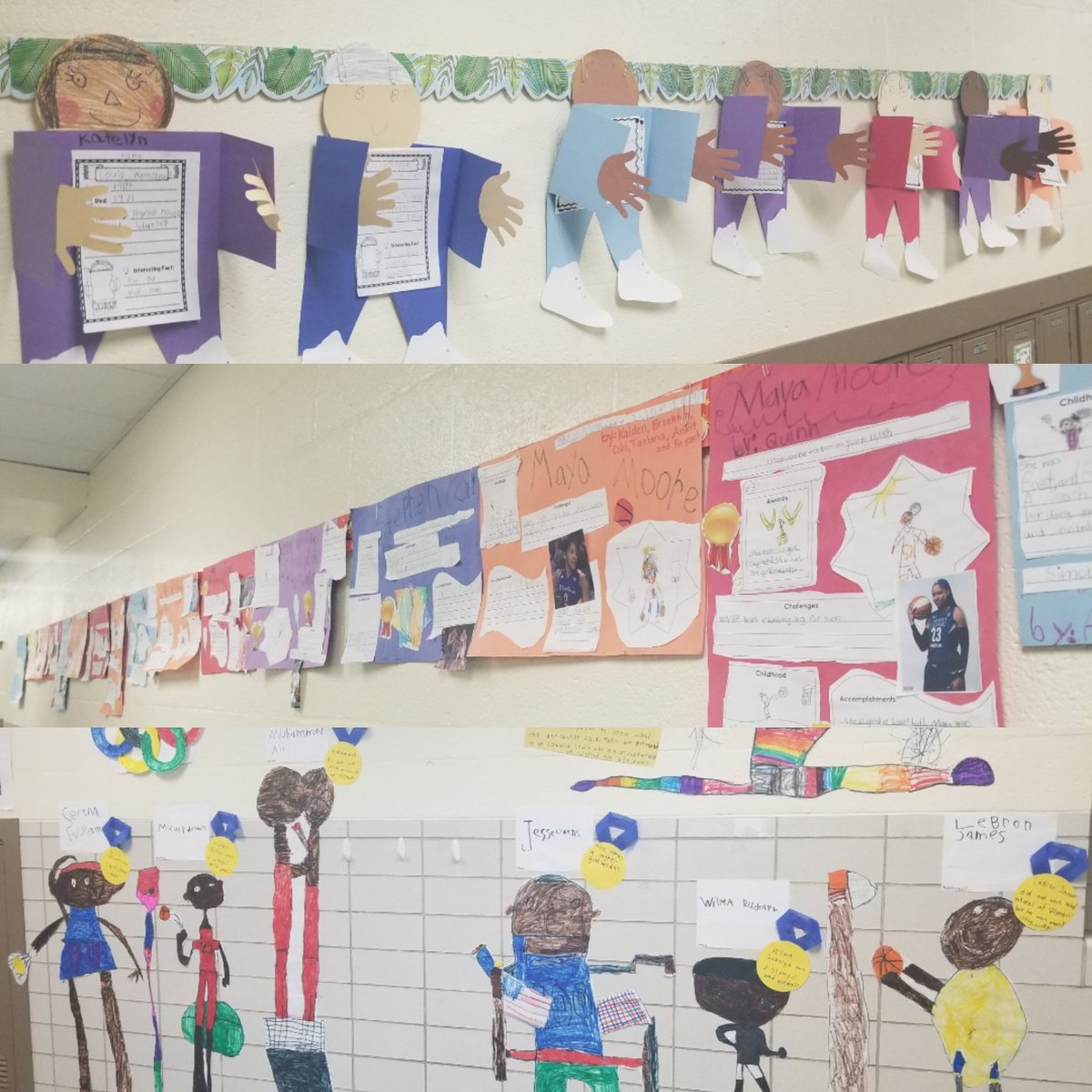 #BCPSBlackHistoryMonth knowledge mixed with art projects can be found in our hallways!