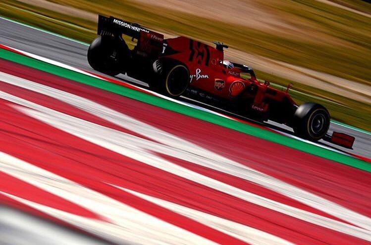 Día 2 de testing de la Fórmula 1 en Barcelona 🇪🇸🏎 #F1Testing #F12019 Fotografía 📸: #Ferrari