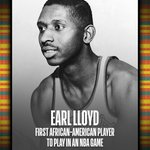 Image for the Tweet beginning: Earl Lloyd... the first African-American