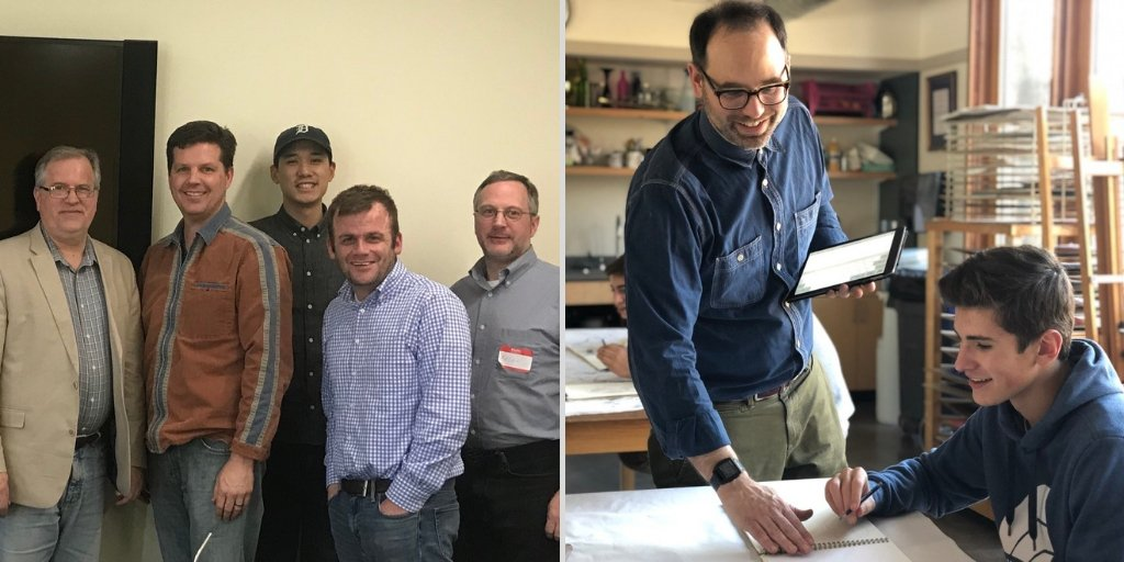 Congratulations to Brimmer faculty members David Cutler '02 and Brent Ridge on their recent accolades! Photo of Brent Ridge by Sit Alomran '19 https://www.brimmer.org/page/News-Detail?pk=1238870… @spinedu #professonaldevelopment #brimmerfaculty #brimmerprofessionaldevelopment #experiencebrimmer