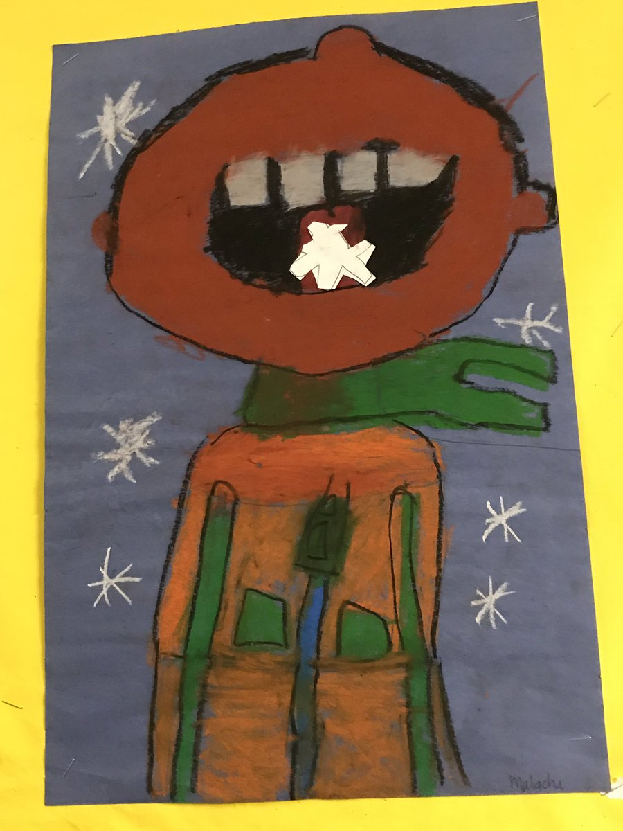 Art work courtesy of Ms. Cunsolo's class - when life gives you snow, eat it! #HappyMonday @tdsb @TDSBNardiAddesa @LC1_TDSB<br>http://pic.twitter.com/BRlU03sZz0