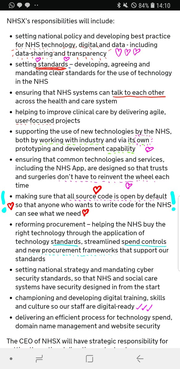 I've annotated the official announcement for the new NHSX to make it more human-readable.  https://t.co/nKOrxqAzRd