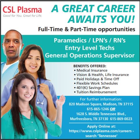 CSL Plasma is hiring medical staff! Paramedics, LPN's, RN's and more!   Amazing benefits and great pay!  Click here to find out more: http://ow.ly/a1bu50lIMOW   #medicalstaff #job #jobs #healthcare #healthcarejobs #nowhiring #hiring #joblisting #jobhunt