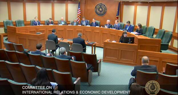 LIVE - The #txlege House Committee on International Relations and Economic Development (#IRED) meets to discuss our trade relationship with Canada & Mexico. http://tlchouse.granicus.com/MediaPlayer.php?view_id=9&event_id=4523… – at Texas State Capitol