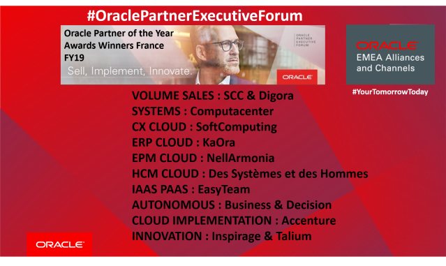At the #OraclePartnerExecutiveForum 12 @oracle_france @Oraclepartners were honoured with @Oracle Awards. If you want to succeed like they did, download this eBook &amp; learn how we can grow our businesses together: #emeapartners @Oracleemeaps @fjtorres  http:// bit.ly/2BKuBeO  &nbsp;  <br>http://pic.twitter.com/7SwVOoM97U