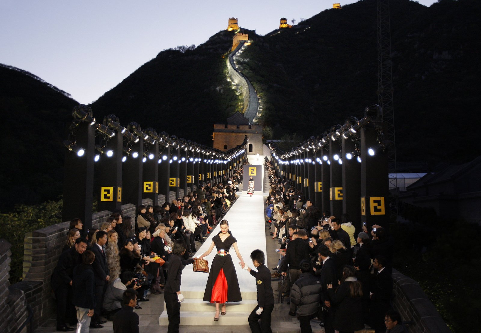 Image result for fendi great wall of china show 2007
