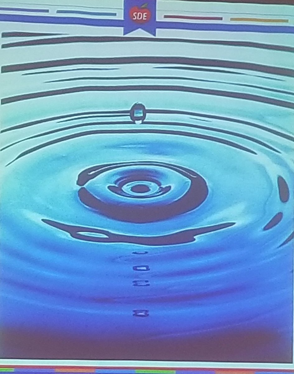 """You are one drop of water, but look at the ripple."" - Cheryl Dick.  This is us as teachers. It takes one word, one hug, one smile, one laugh.. and it can make all the difference!  @SDE4Educators #sdeevents <br>http://pic.twitter.com/cbyARVqS77"